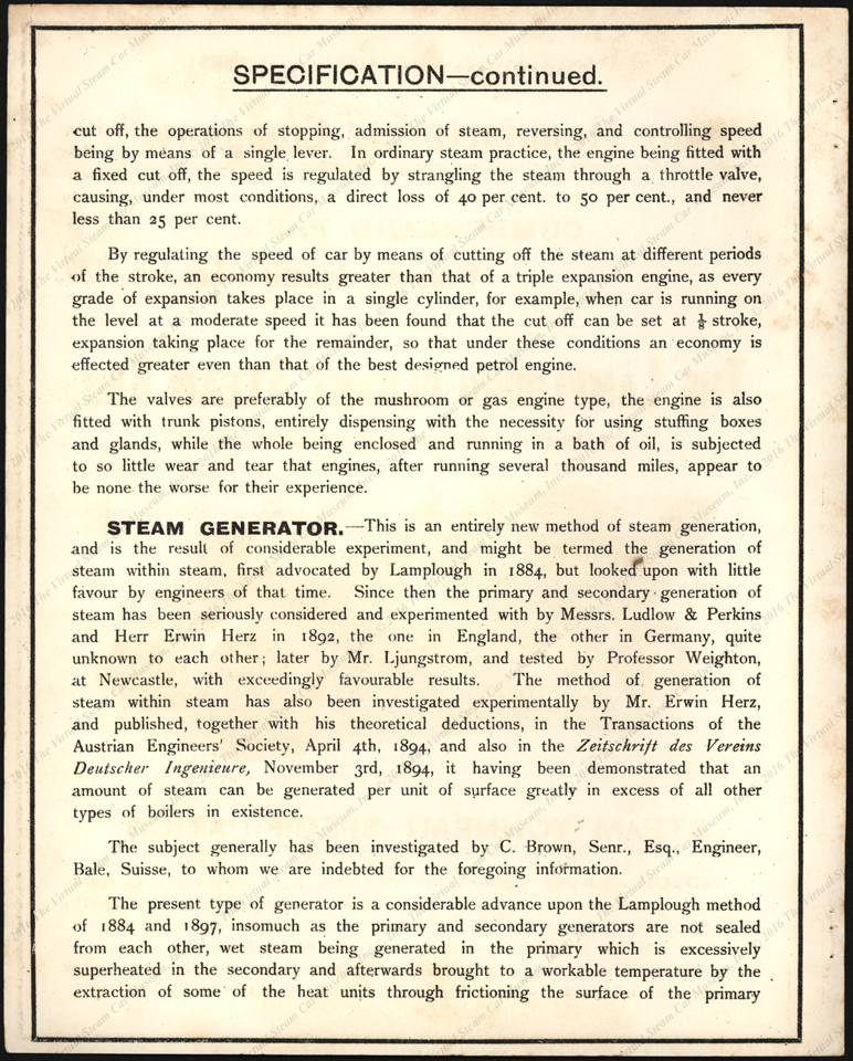 Albany Manufacturing Company, Ltd., London, 1903)Lamplough-Albany_steam_car, Trade Catalogue, P. 2