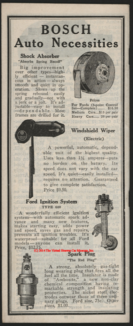 American Bosch Magneto Corporation, February 1, 1926, Snubbers and Windshield Wipers