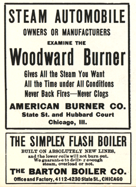 American Burner Company Magazine Advertisement, Floyd Clymer, p. 47