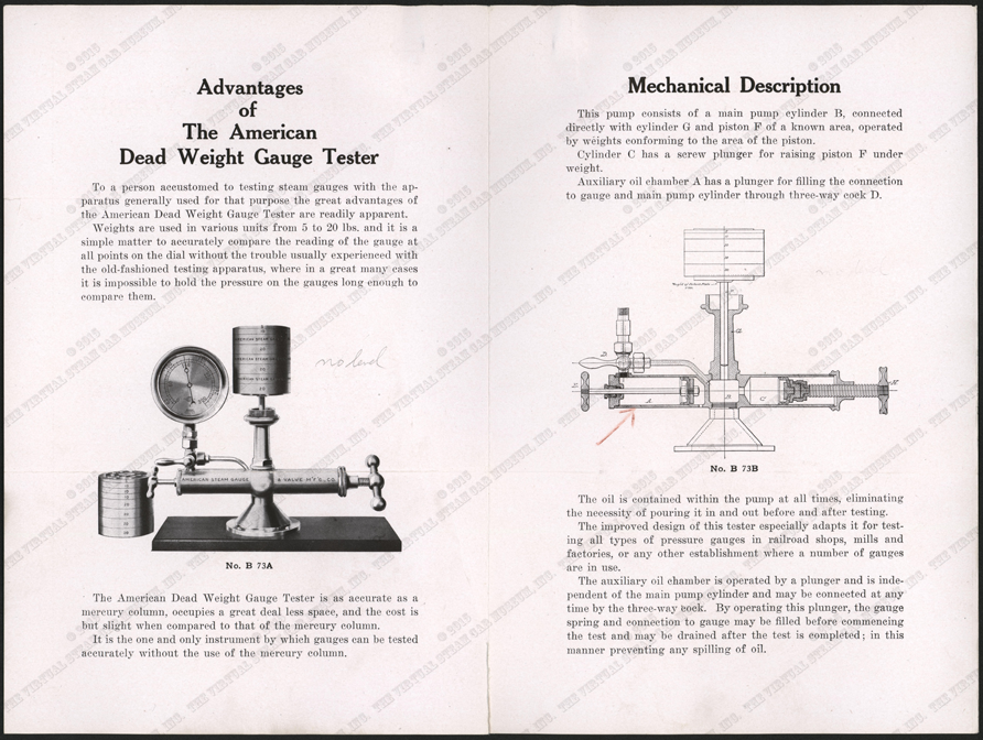 American Steam Gauge and Valve Company letter June 22, 1916, American Dead Weight Gauge Tester