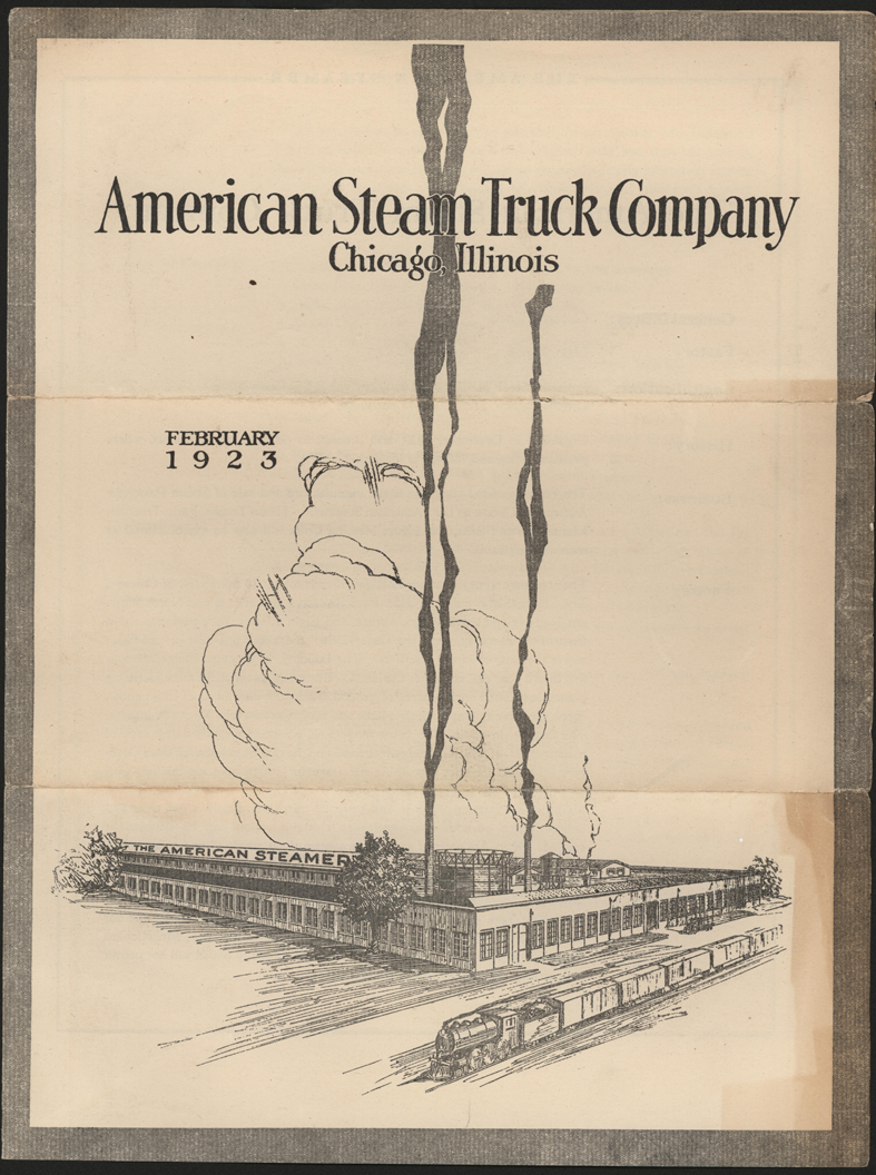 American Steam Truck Company, February 1923 Stock Prospectus