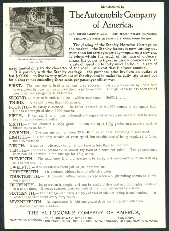 Automobile Company of America 1899 ad trimmed