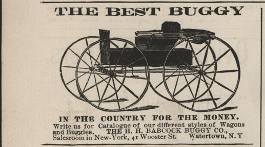 H. H. Babcock Buggy Company, Magazine Advertisement, July 1886