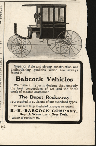 H. H.Babcock Company, Magazine Advertisement, 1903, Scribner's Magazine, p. 142