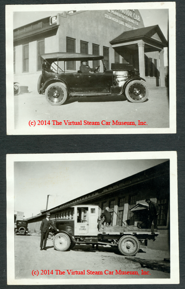 Baker Steam Motor Car and Manufacturing Company, Baker Steam Trucks Snapshots
