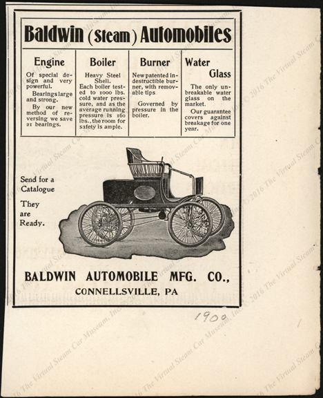 aldwin Automobile Manufacturing Company, 1900, Horseless Age Magazine Advertisement,
