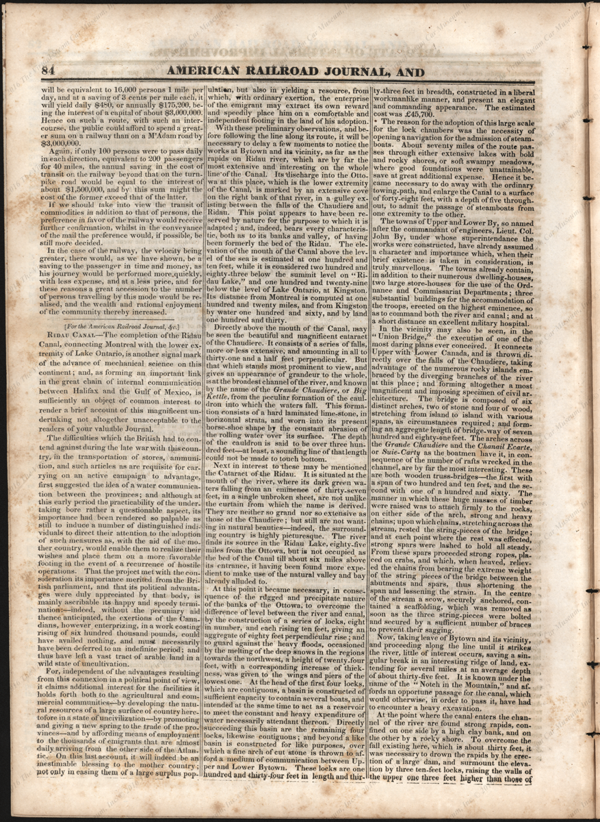 Baltimore Gazette Steam Carriages on Turnpikes Article, 1833, Reprinted from American Railroad Journal