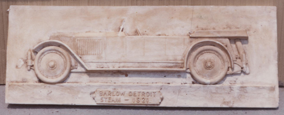 Plaster of Paris Cast of Barlow Steam Car, Barlow Steam Engineering Syndicate, 1921