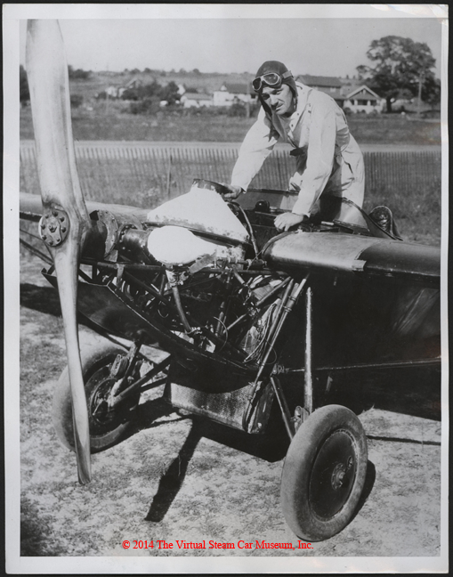 Erick Beckley and Harold Johnson Steam Airplane, October 6, 1933, Press Photograph, Front