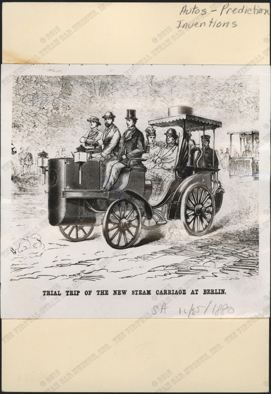 Berlin Steam Carriage, 18880, Scientific American, December 25, 1880, Front