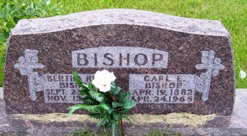 Carl E. Bishop Head Stone