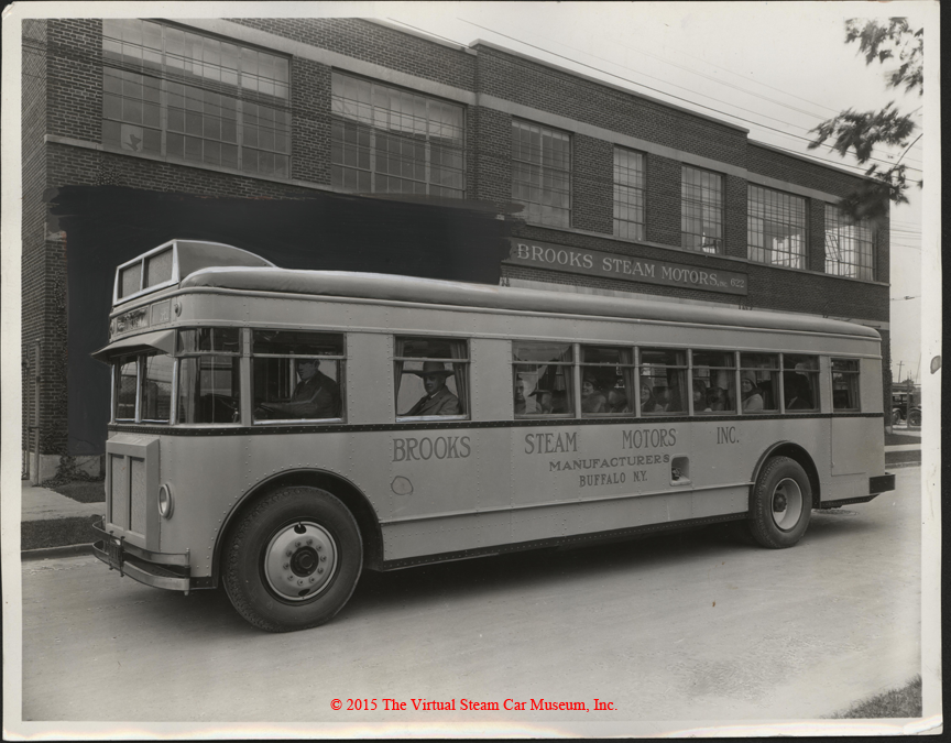 Brooks Steam Motors, Inc. Press Photograph, Steam Bus, October 30, 1930, Front