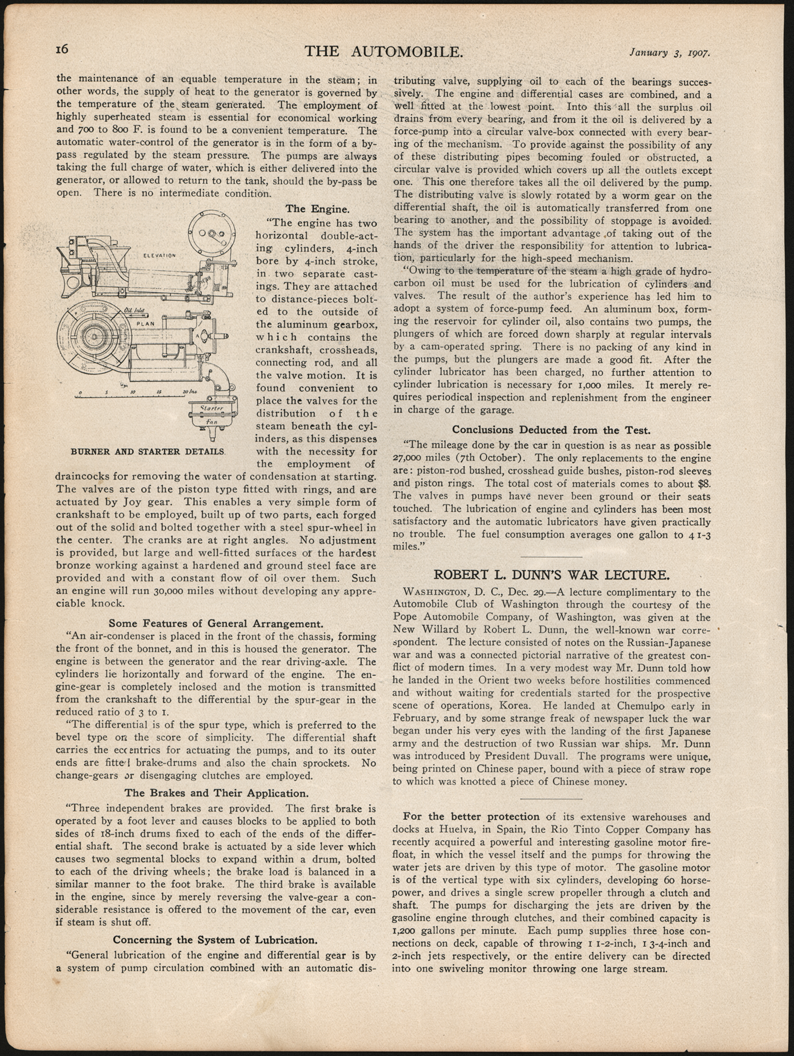 Thomas Clarkson published this article about his Steam Onmibus on January 3, 1907 in The Automobile, pp. 15 and 16