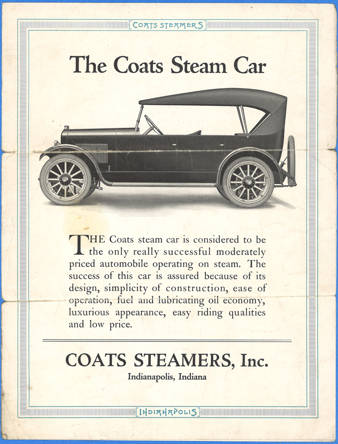 Coats Steamers, Inc. Trade Catalogue, 1921, Indianapolis, IN