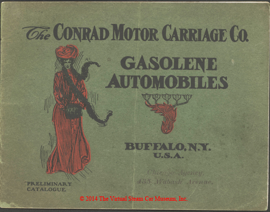 Conrad Motor Carriage Company, 1903 Catalogue Introducing Its Gasoline Cars