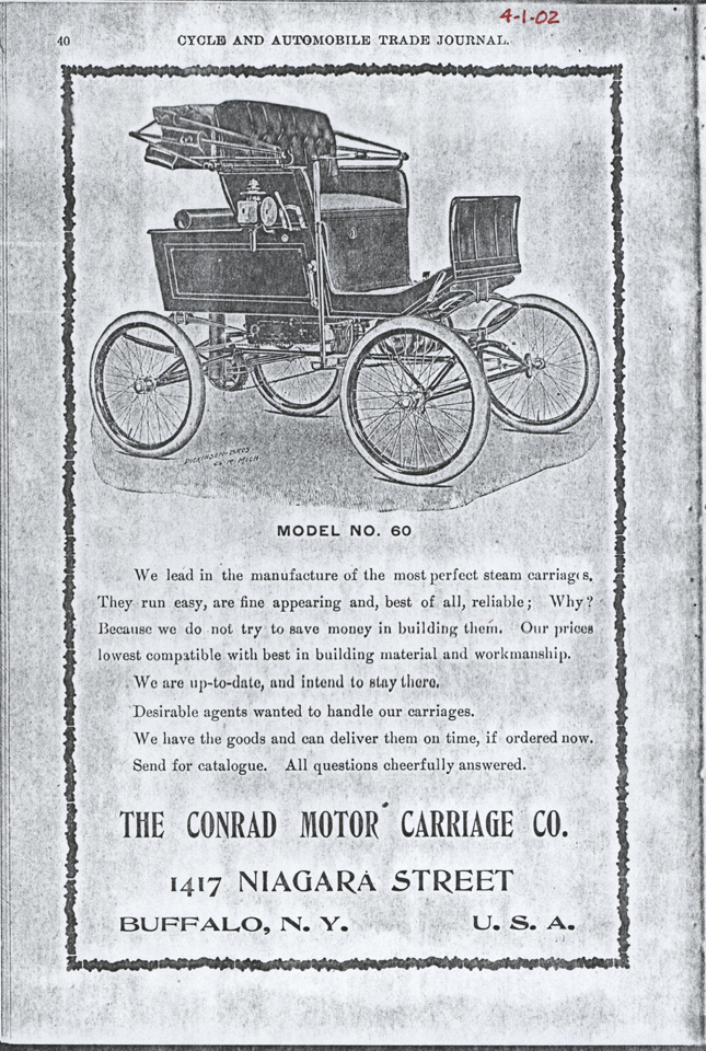 Contad Motor Carriage Company, April 2, 1902, Cucle and Automobile Trade Journal, page 40