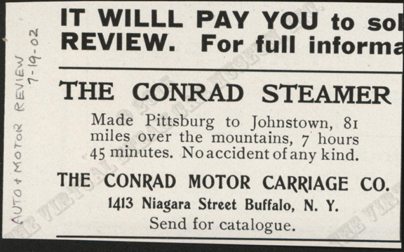 Contad Motor Carriage Company, July 19, 1902, Automobile and Motor Review