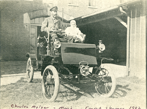 Charles and Marie Melzer in 1902 Conrad Steam Car