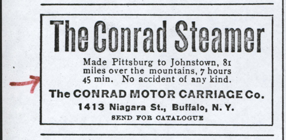Contad Motor Carriage Company, January 2, 1903, The Automobile, p. 50.