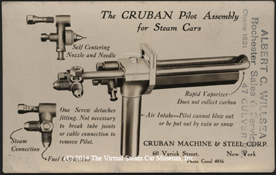 Cruban Machine & Steel Corporation, Pilot Postcard, December 23, 1922, Front