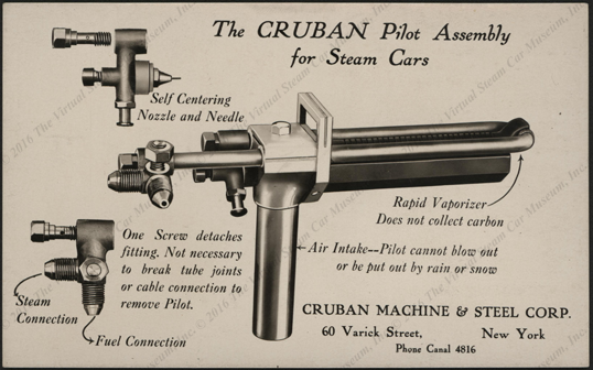Cruban Machine & Steel Corporation, January 27, 1923, Pilot Assembly Post Card, Front