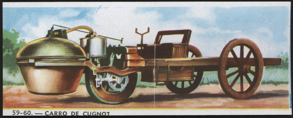 Cugnot Steam Carriage Bubble Gum Card 1770
