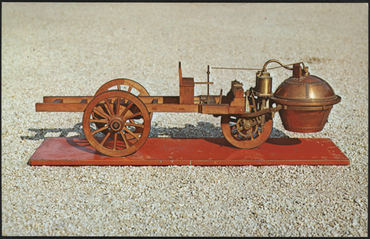 Cugnot Steam Wagon, 1770 Henry Austin Clark Museum Postcard Front