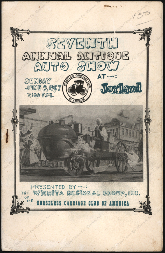 Nicholas Cugnot, Wichita Regional Group of the Horseless Carriage Club or America, June 9, 1957 program cover
