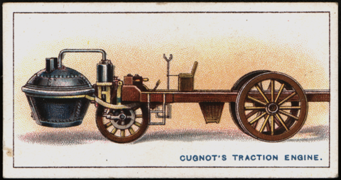 Cugnot Traction Engine, Wills Cigarettes Card Front