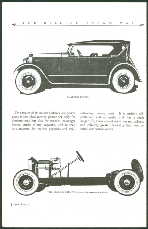 Delling Motors Company booklet assembled by Floyd Clymer p. 2