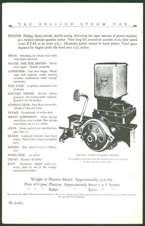 Delling Motors Company booklet assembled by Floyd Clymer p. 4