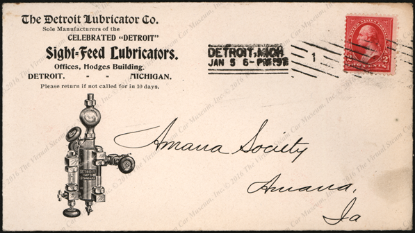 Detroit Lubricator Company, Advertising Cover, January 5, 1987, Front