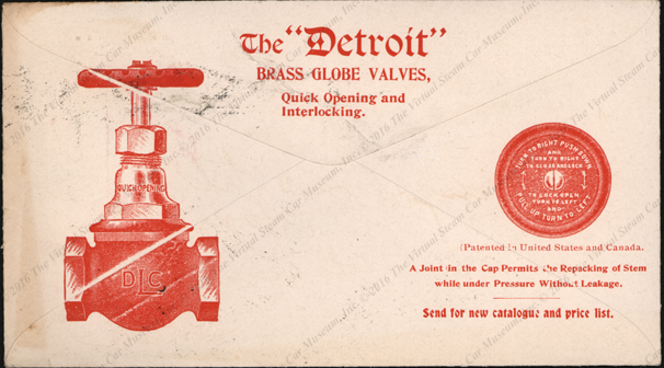 Detroit Lubricator Company, Advertising Cover, January 5, 1987, Reverse