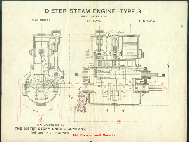 Dieter Steam Engine Company Drawing