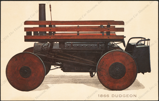 Dudgeon Steam Wagon, Winthrop Rockefeller Collection, Museum of Automobiles, postcard, front