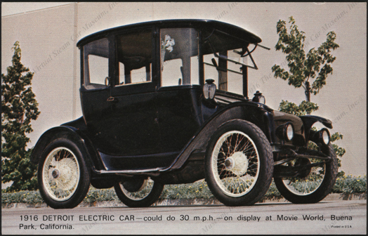 Detroit Electric Car, Postcard, Front