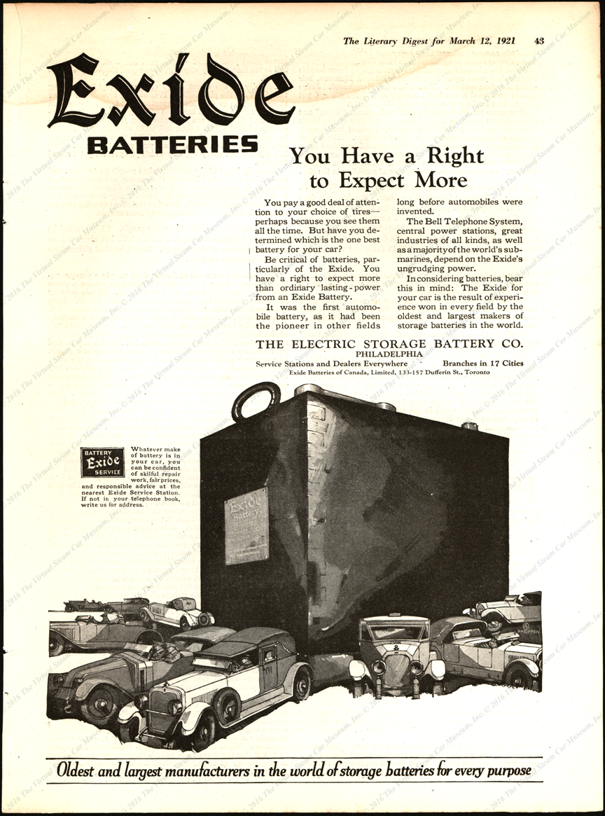 Electric Storage Battery Company, Exide Battery