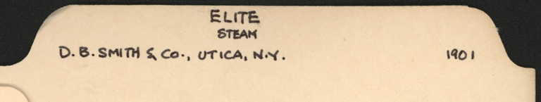 Elite Steam Carriage, D. B. Smith & Company, John A. Conde's File Folder, Conde Collection.