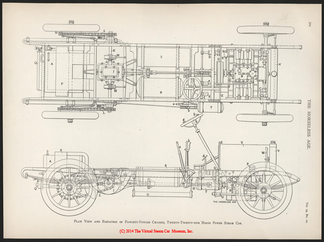 Fawcett-Fowler Steam Car, The Horseless Age, March 6, 1907, Vol. 19, No. 10, p. 324