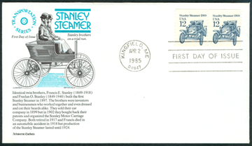 12centstanleysteamcar First Day Cover