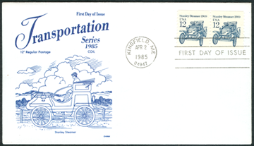 12 Cent First Day Cover uncolored HiramSwindall