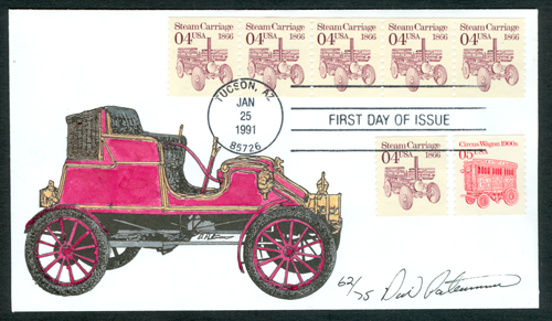 4 Cent Dudgeon Steam Wagon Stamp