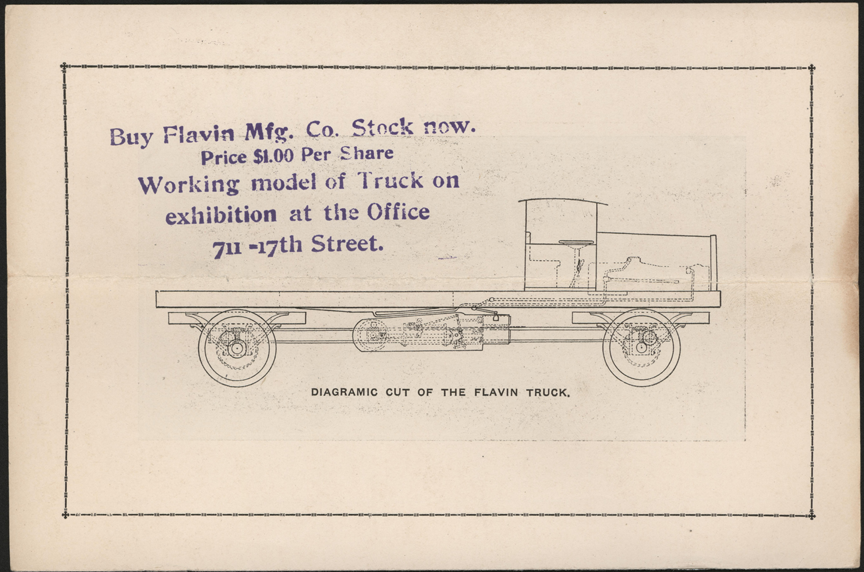 Flavin Manufacturing Company, Denver, CO, Four Wheel Drive Steam Trucks, Trade Catalogue