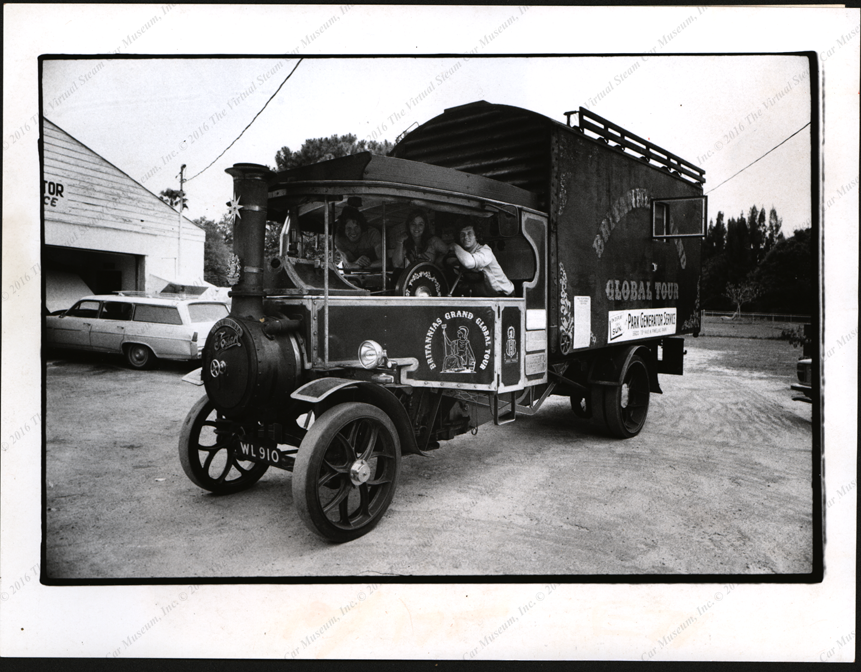 Foden Steam Wagon, Press Photograph, St. Petersburg Times, April 17, 1974 Front