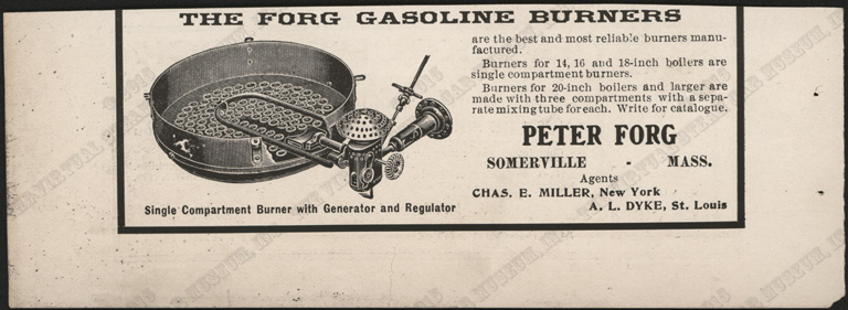 Peter Forg Manufacturing Company, February 1905, Cycle and Automobile Trade Journal, p. 236, Conde Collection.