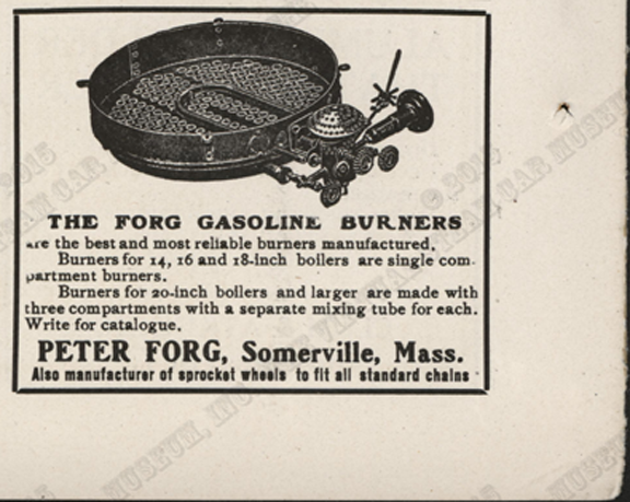 Peter Forg Manufacturing Company, November 1907, Cycle and Automobile Trade Journal, p. 392
