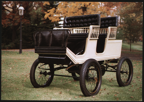 Foster-Artzberger Steam Carriage, Frick Art & History Center, Postcard Front