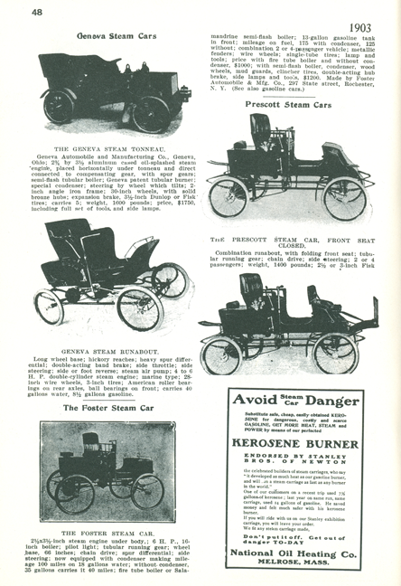 Foster-Artzberger Steam Car Magazine Article, Floyd Clymer, p. 48
