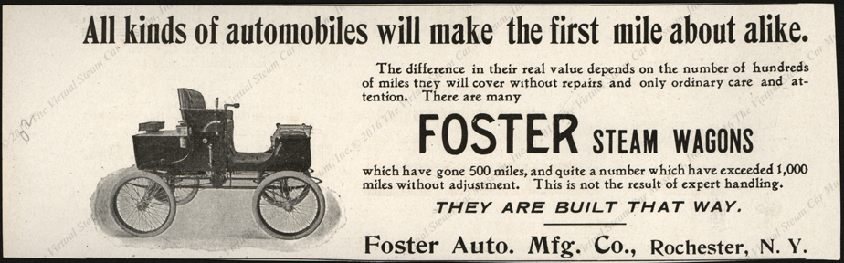Foster Automobile Company Magazine Advertisement, 1902