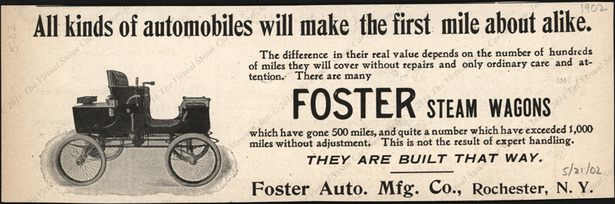 Foster Automobile Company Magazine Advertisement, May 21, 1902